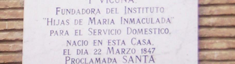 Santa vicenta María Instituto hijas de maría inmaculada